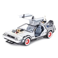 welly 124 dmc 12 delorean time machine back to the future car static die cast vehicles collectible model car toys