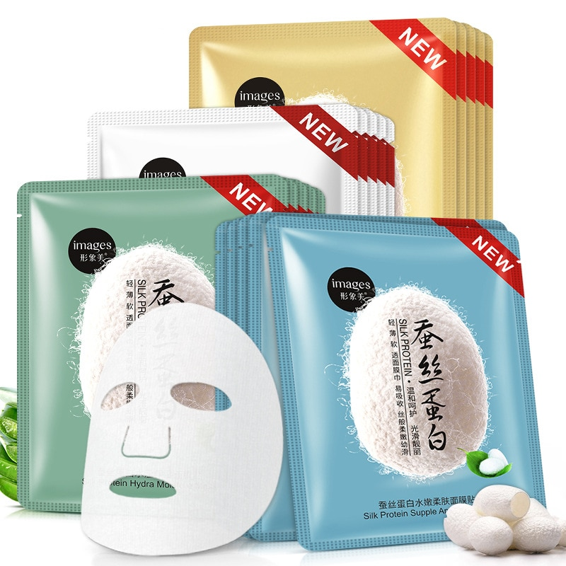Silk Protein Mask Deep Moisturizing Oil Control Shrink Pores Whitening Anti-Aging Pigmentation Corrector Whole Face