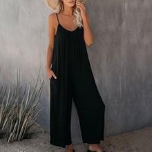 Uefezo Rompers 2021 Summer Autumn Fashion Women Casual Loose Linen Cotton Jumpsuit Sleeveless Playsu