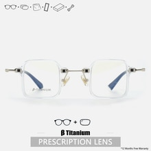 Square Prescription Glasses Men Titanium Acetate Prescription Eyeglasses Handmade Glasses Frame Tita