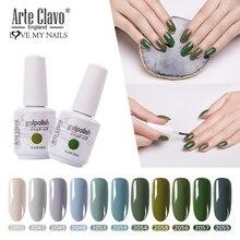 Vernis à ongles en Gel Arte Clavo 15ml série vert Olive LED vernis à ongles en Gel UV vernis à ongles