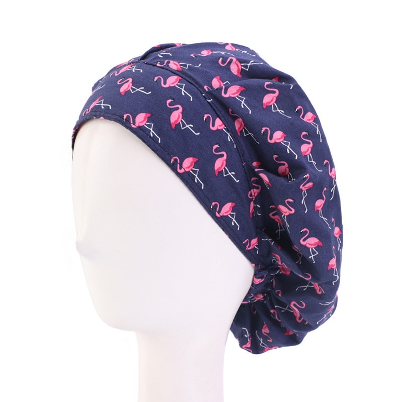 Health services caps woman Long-hair scrubs hat sweat-absorbent unisex Beautician accessories cartoo