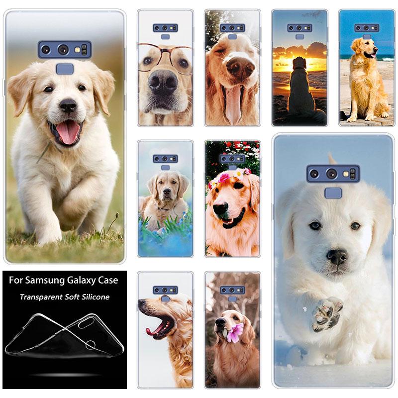 Silicone Case Cute Golden Retriever Dogs For Samsung Galaxy Note 10 Pro 9 8 M10 M20 M30 M40 S8 S9 S10 Plus 5G S6 S7 Edge S5 S10e
