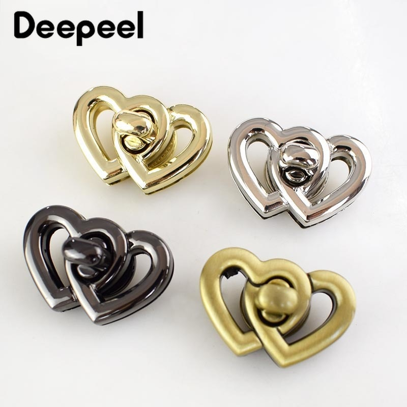 osmond alloy tone turn locks snap clasps closure buckle for bags accessories diy handbags purse alloy button replacement lock 2Pcs 37x25mm New Metal Turn Lock Snap For Handbag Women Bag Twist Locks Clasps Closure DIY Buckle Hardware Accessories KY839