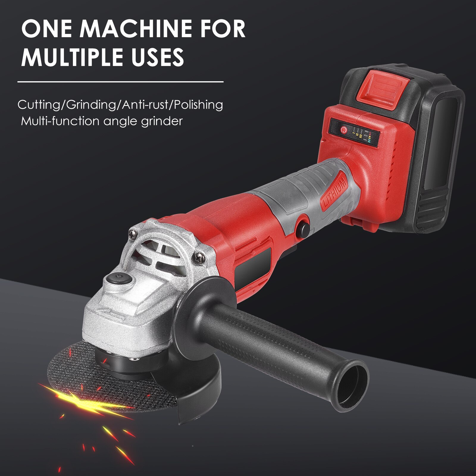 3 Speed 100mm Brushless Electric Angle Grinder Grinding Machine Cordless 850W Woodworking Power Tool For 21V Lithium Battery 2