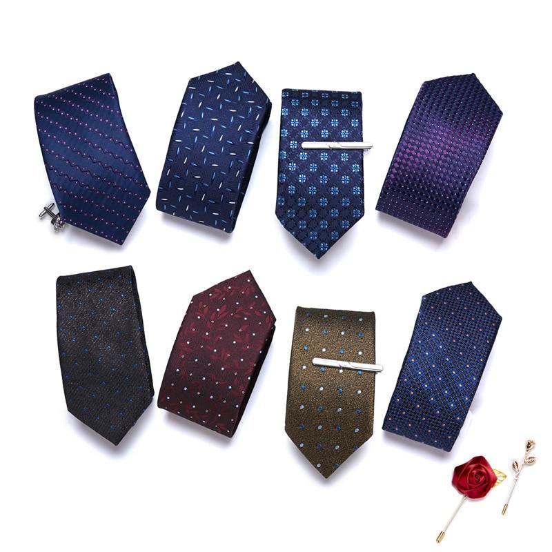 100% шелковые галстуки мужские модные галстуки жаккардовые Тканые узкие 7 см хлопковые галстуки мужские галстуки