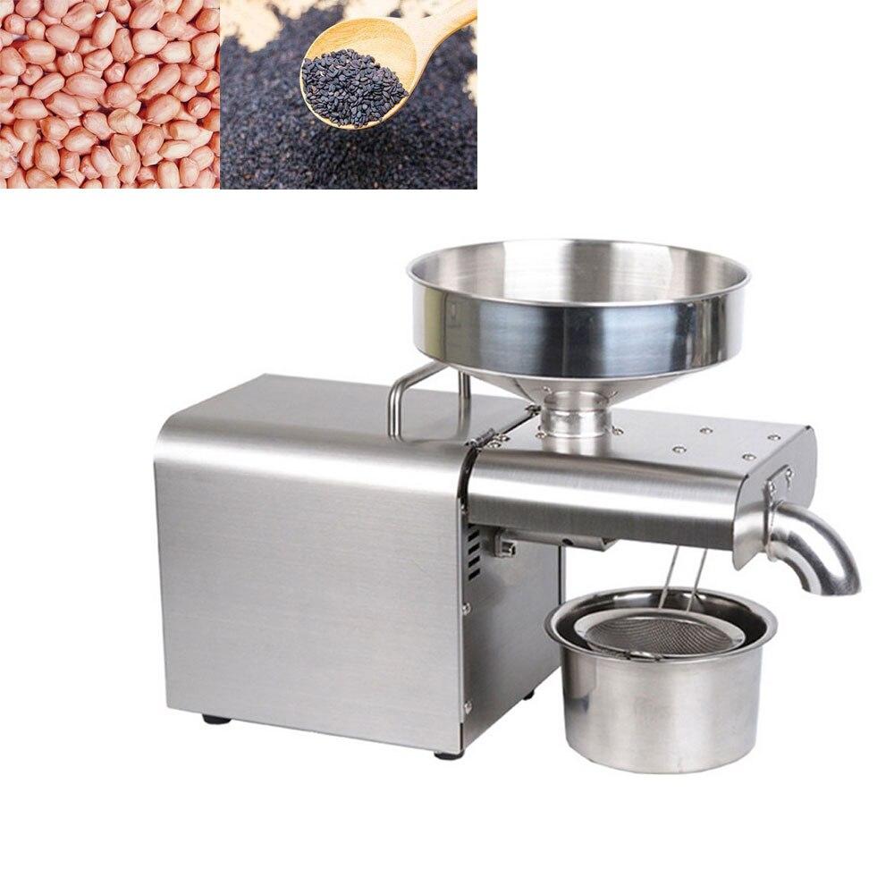 Máquina automática de prensado de aceite para uso doméstico, prensa en frío, tornillo de sésamo para cacahuete, Máquina De Prensa De Aceite, Mini máquina de extracción de aceite de semillas
