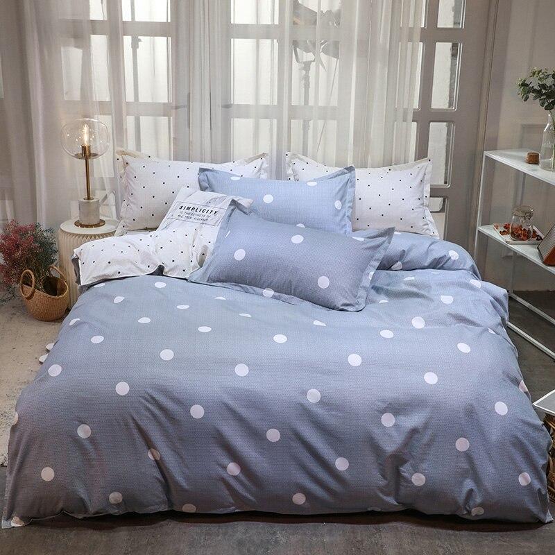 BEST.WENSD, juego de ropa de cama con edredón de punto, ropa de cama de algodón textil para el hogar, juego de sábanas, fundas de almohada y edredón con cremallera 9174R
