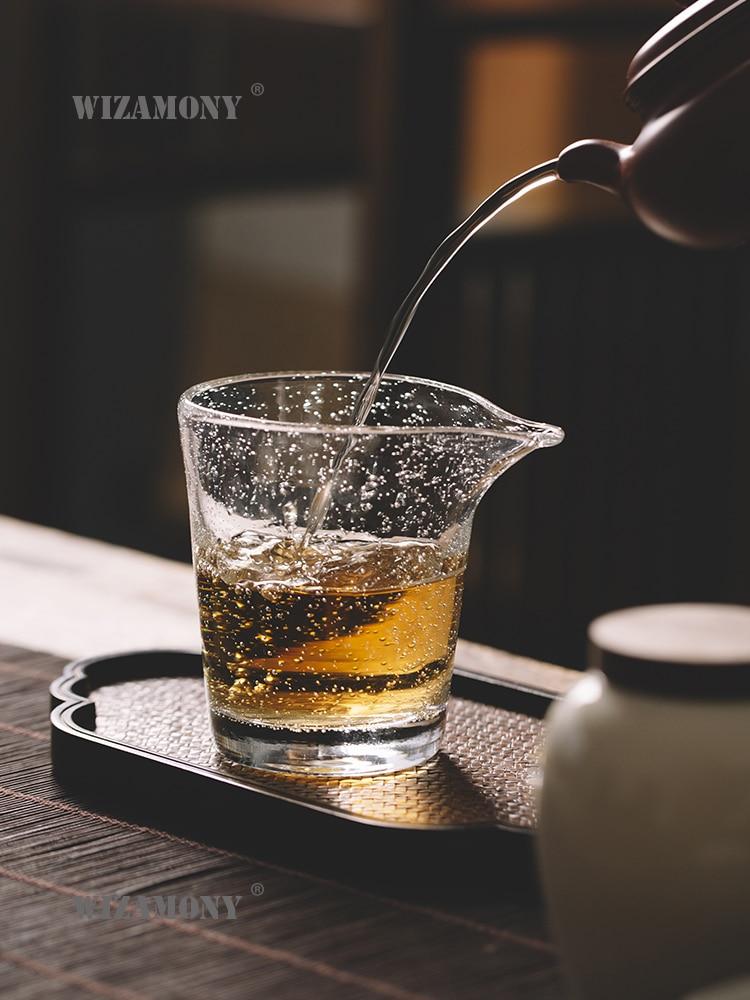 Gran oferta de WIZAMONY juego de té de estilo japonés tetera resistente al calor de vidrio jarra de té taza de té Cha hai gongazo