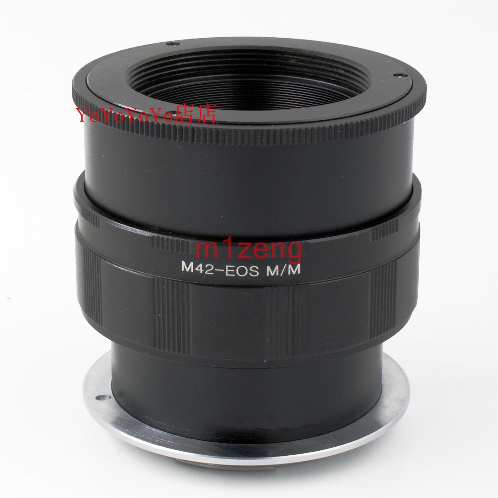 M42-EOSM ماكرو التركيز شبيه الحلزون محول الدائري ل M42 42 مللي متر عدسة ل كانون ef-m EOSM/M2/M3/M5/m6/M10/m50 المرايا كاميرا