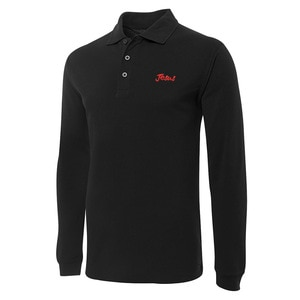 Jesus Christian Embroidery Long Sleeve Polo Shirts Embroidered Men's Shirts