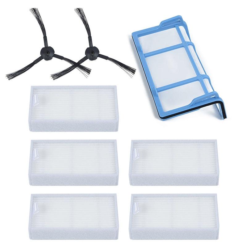 Juego de cepillos laterales de filtros para MEDION MD18500, MD18600, MD18501, MD16192 Sweeper