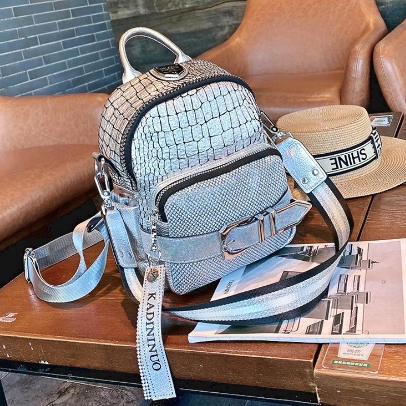 New Designer Small Backpack Women Double Zipper Serpentine School Bags Shoulder 2021 Travel Sac A Dos Femme Mochila