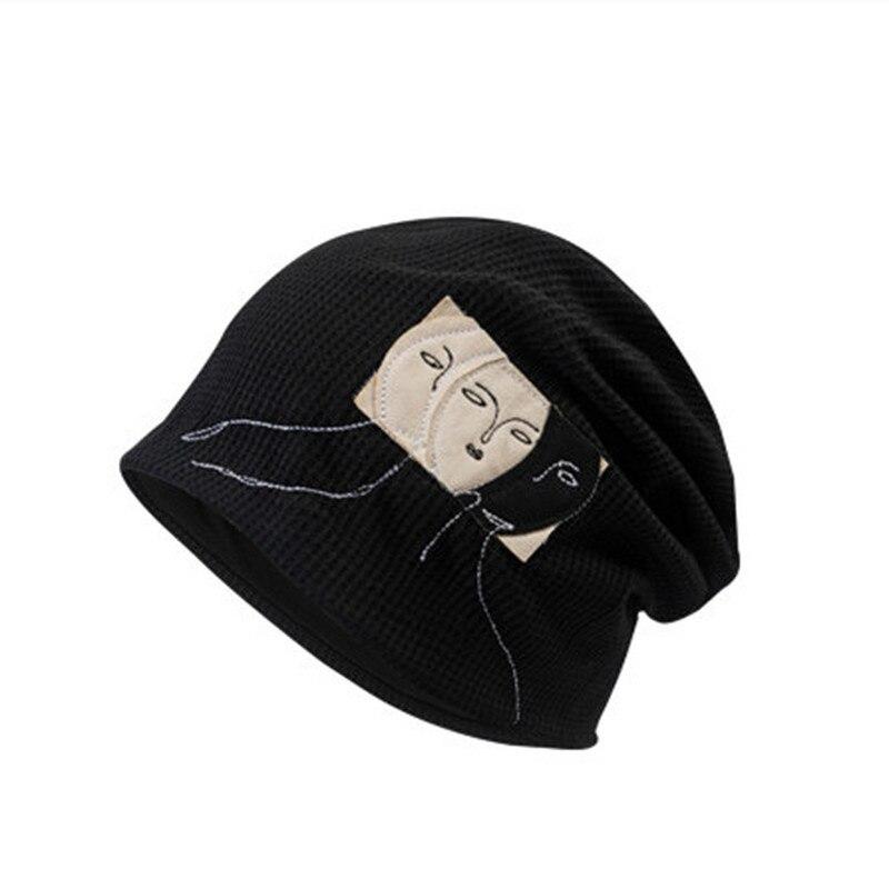 Женская вязаная шапка, черная или серая Повседневная модная Осенняя шапка, уличная сохраняющая тепло, танцевальная уличная зимняя шапка в с...