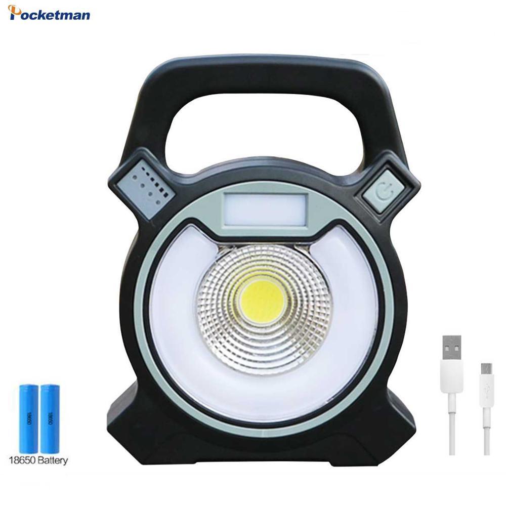 Recargable portátil 15W al aire libre Camping Luz de inundación USB Lámpara de trabajo de emergencia linterna lámpara Flash