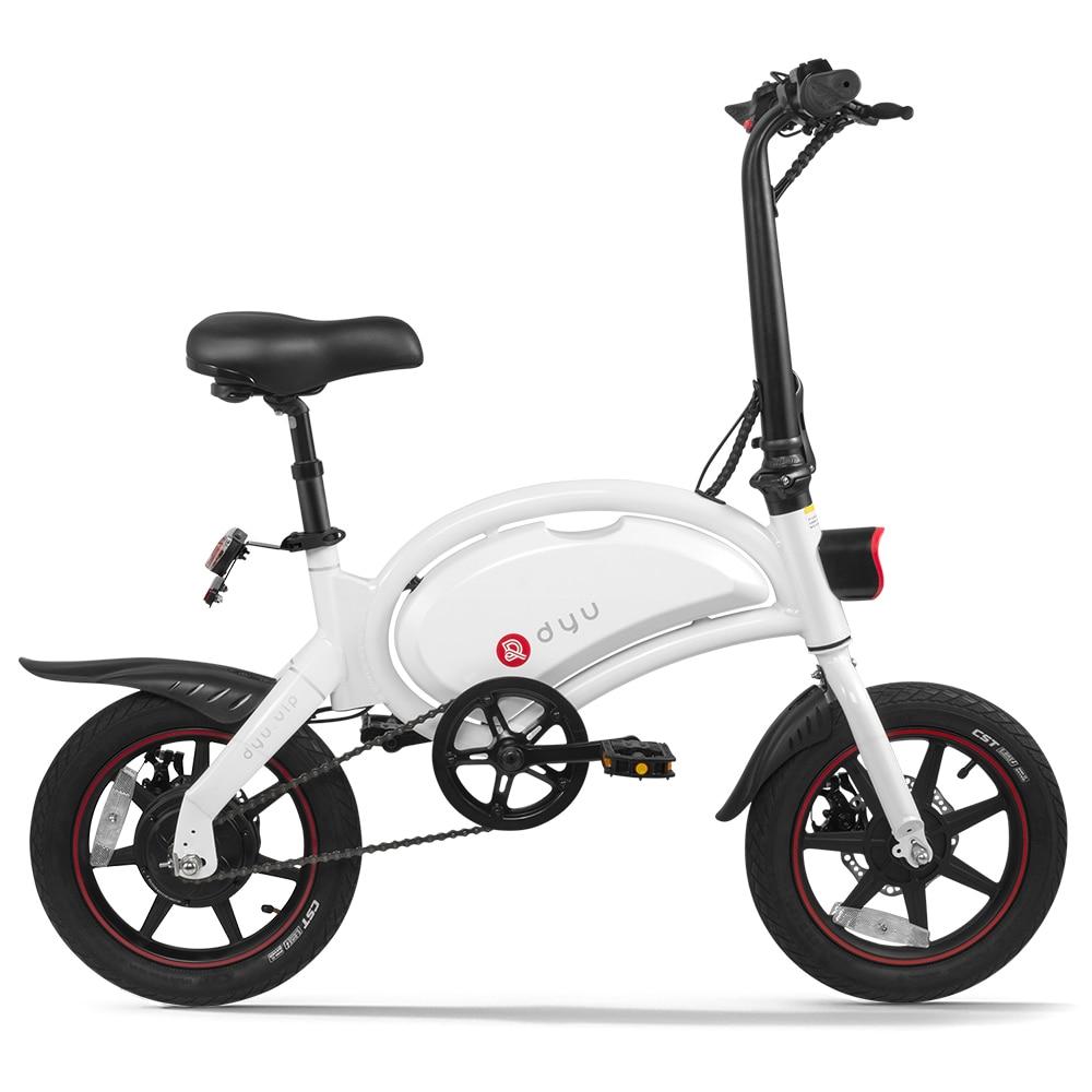 DYU 14 pulgadas plegable asistencia de potencia Bicicleta eléctrica, ciclomotor E-bike 65-70km...