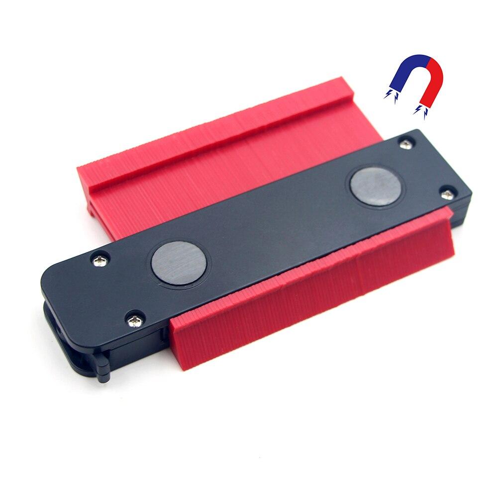 Medidor de contorno de plástico con autobloqueo, perfil de contorno, medidor de copia, duplicador, herramienta de marcado de madera, azulejos laminados, herramientas generales