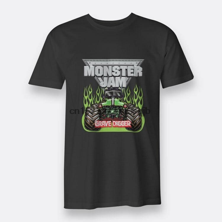 Camisetas negras para hombre de monstruo Jam Truck Grave Digger S-3XL