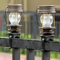 1 pcs led retro solar powered lamp vintage solar light hanging lantern garden landscape lighting for garden balcony decor