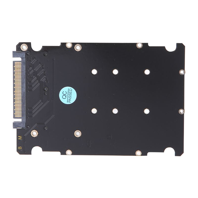 M.2 SSD to U.2 Adapter 2 in 1 M.2 NVMe Key B/M SSD to PCI-e U.2 SFF-8639 Adapter PCIe M2 Converter Desktop Computer 85WD