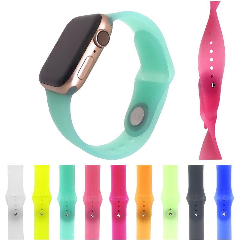 Силиконовый прозрачный ремешок для apple watch 38/40 мм и 4 44 браслет iWatch series 3/2/1 42