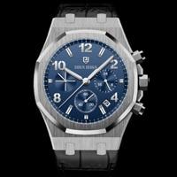 DIDUN 2012 New  Luxury Steel Watch Men Quartz Watch Male Business Digital Chronograph Sports Wristwatches 30M Waterproof