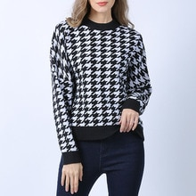 2021 Autumn Winter Fashion New Knitting Sweater Western Style Round Neck Pullover Retro Academy Long