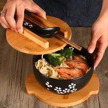 Japanese style chopsticks ceramic spoon Korean large bowl soup bowl rice bowl student dormitory instant noodle bowl LB011113