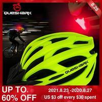 QUESHARK мужской женский мужской Сверхлегкий велосипедный шлем со светодиодным задним светом MTB дорожный велосипед для езды на мотоцикле безоп...