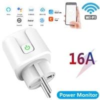 Prise intelligente WiFi 16a EU US  Tuya Smart Life APP  fonctionne avec Alexa Google Home Assistant  controle vocal  moniteur dalimentation  synchronisation