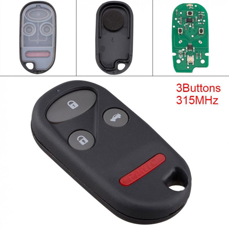 315MHz 3 Buttons Keyless Remote Car Key Fob Shell Case KOBUTAH2T for 1998 1999 2000 2001 2002 Honda Accord