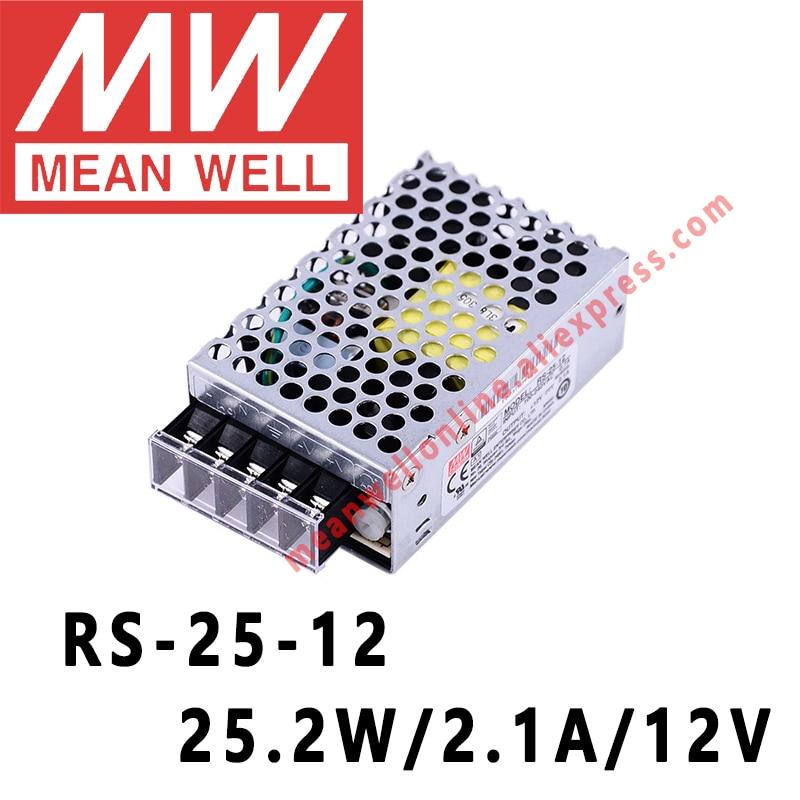 يعني حسنا RS-25-12 AC/DC 25.2W/2.1A/12V واحد الناتج تحويل امدادات الطاقة meanwell متجر على الانترنت