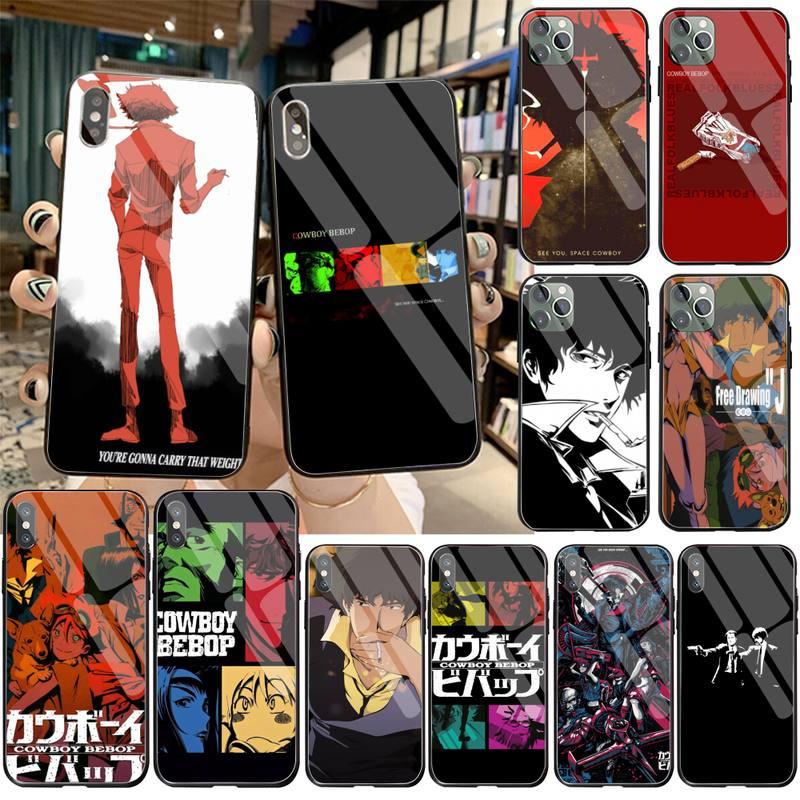 Funda vaquera Bebop See You Space hone, funda de cristal templado para iPhone 11 Pro XR XS MAX 8X7 6S 6 Plus SE 2020