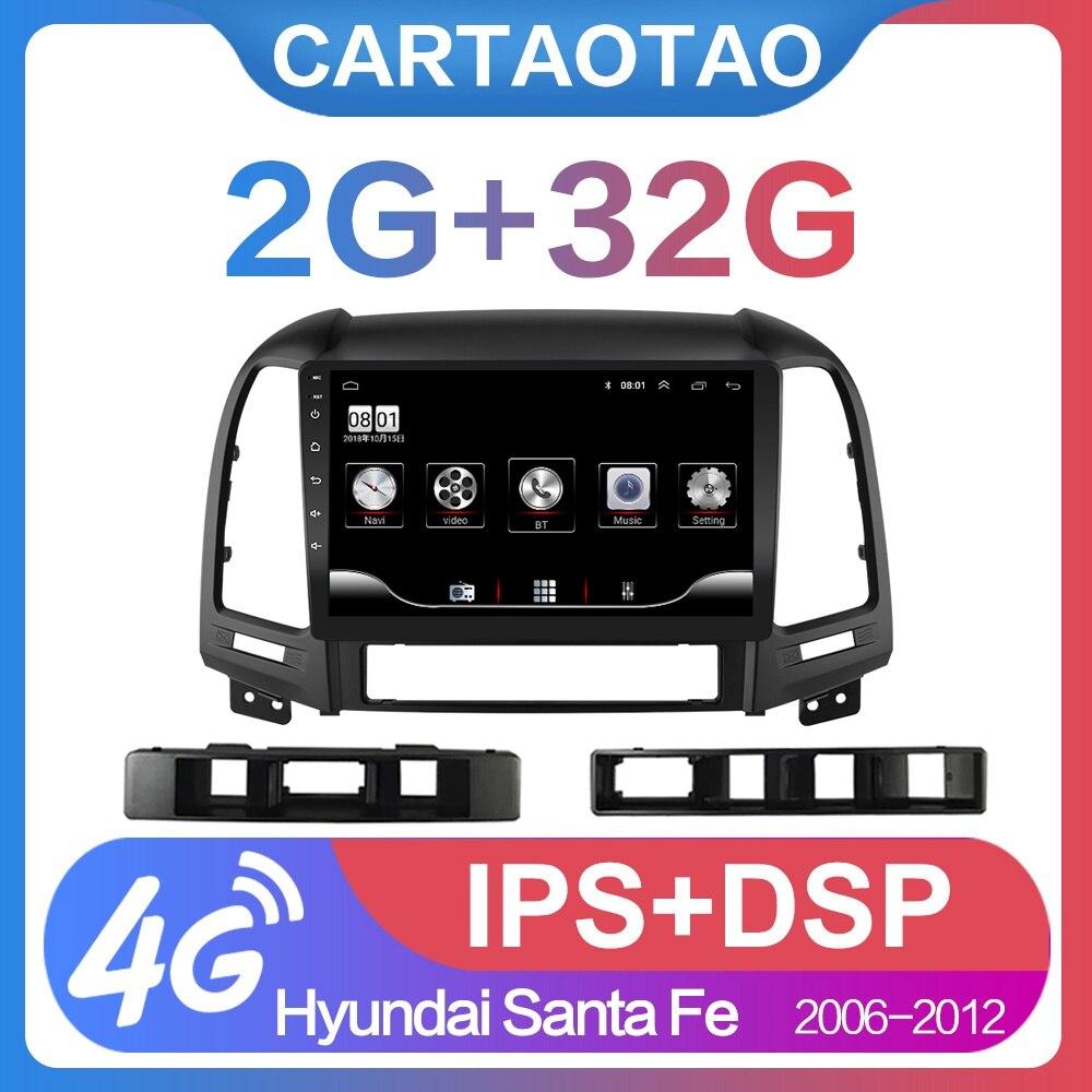 Reproductor de vídeo multimedia para radio de coche Android 2g + 32g 2din para Hyundai Santa Fe 2 2006-2012, radio de coche Navitei, navegador GPS y WiFi