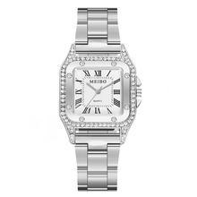 Luxury Roman Numerals Faux Quartz Watch Stainless Steel Dail Clock Ladies Watch Montre Femme Reloj M