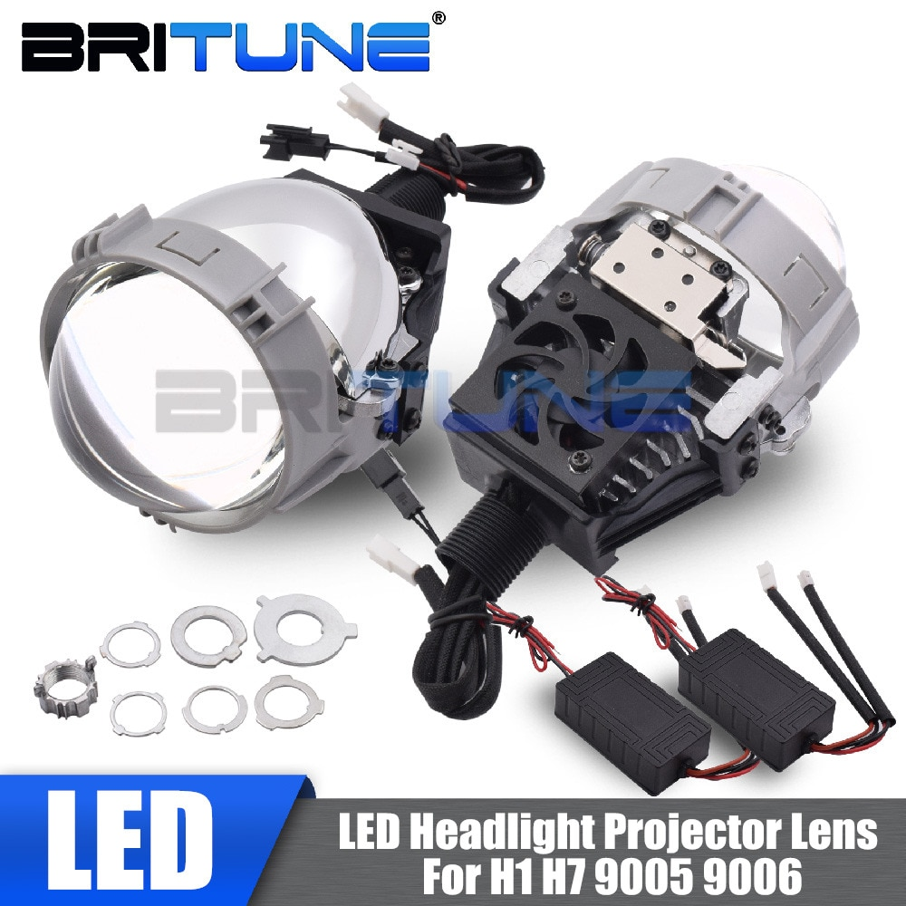 Bi-led Lens Projector Headlight Lenses TX-7 2.5'' LED Lights For H7 H4 H1 9005 9006 Auto Cars Stylin