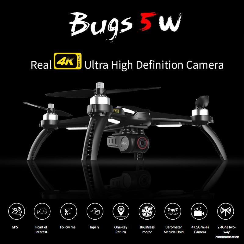 MJX Bugs 5W Drone GPS Camera 4K Professional Quadcopter Brushless 5G Wifi Dron HD Auto Return B5W FPV Drones Rc Hubschrauber