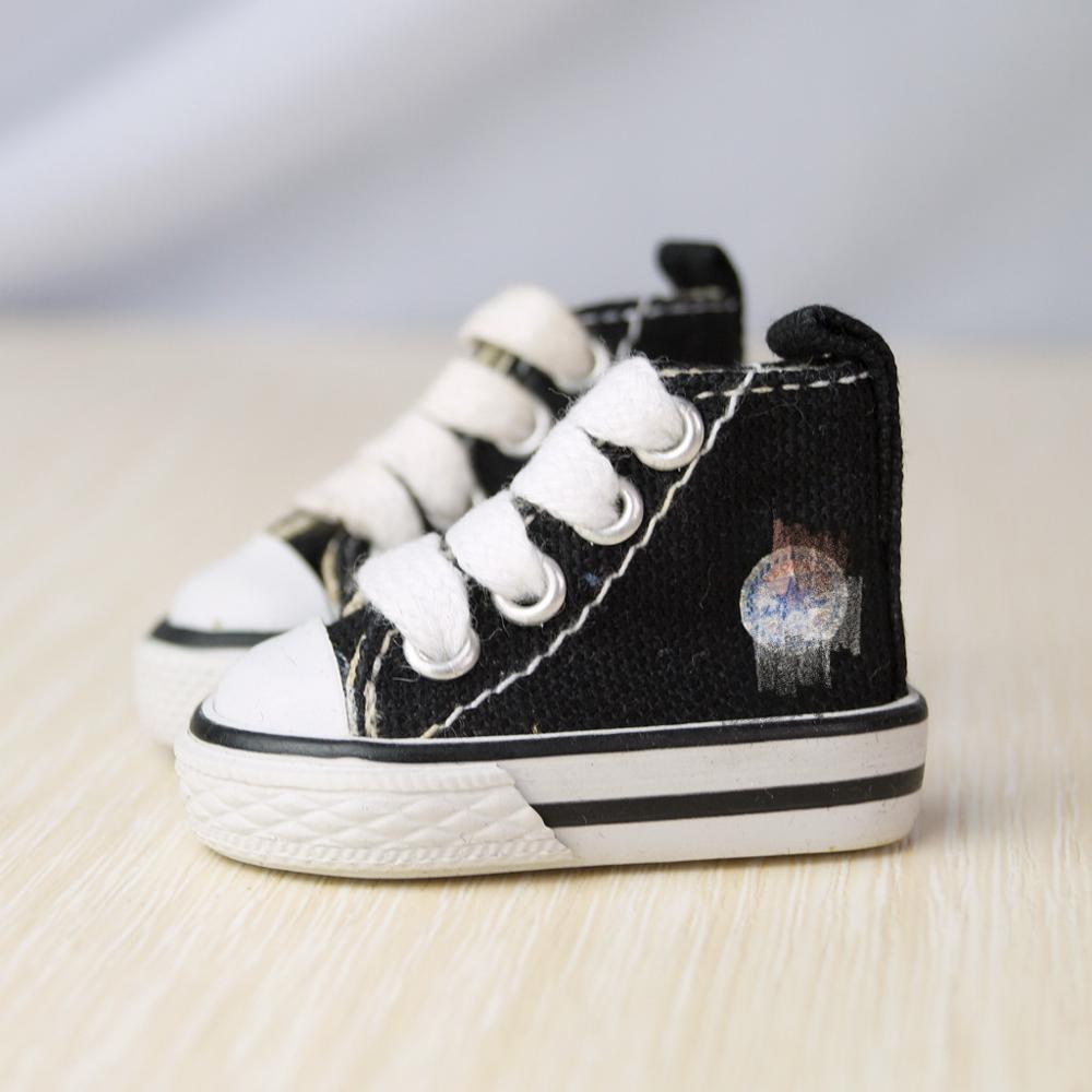 "BJD SHOES zapatos de lona negros planos deportivos para 1/6 11 ""YOSD BJD muñeca DZ AOD DD MK muñeca envío Gratis"
