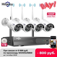 hiseeu 8ch wireless nvr 2mp cctv system kit 2mp 3tb 1080p outdoor ir night vision ip wifi camera security cameras surveillance