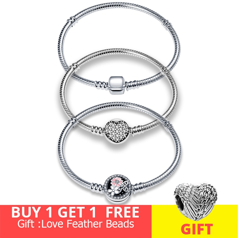 Design Beads Charms Bangle DIY Jewelry Making Gift For Women Hot Sale 100% Sterling Silver 925 Bracelet for pandora Original