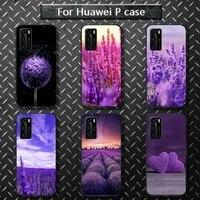simple lavender purple flowers phone case for huawei p40 pro lite p8 p9 p10 p20 p30 psmart 2019 2017 2018