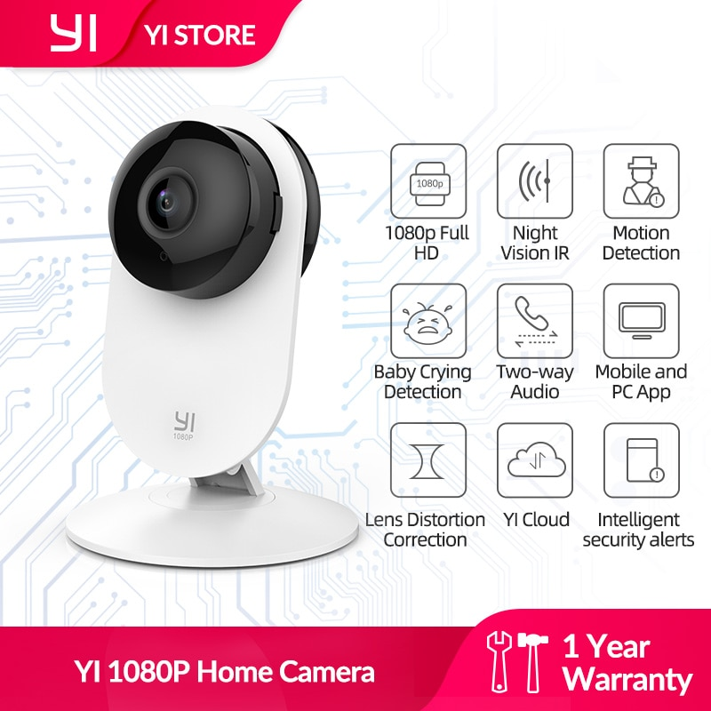YI 1080p WiFi Home Camera Wireless IP Security Surveillance System (US/EU Edition) AI Human detection nanny monitor Night vision