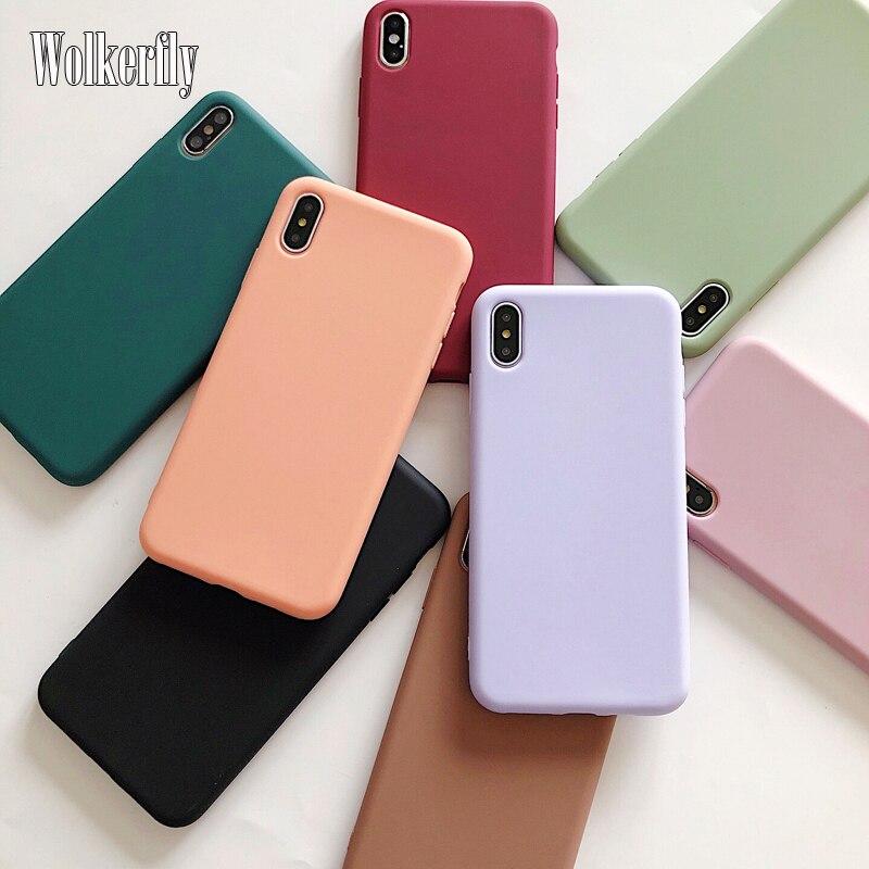 Чехол ярких цветов для Samsung Galaxy A51 A71 A10 A20 A30 A40 A50 A70 S8 S9 S10 S20 Plus S10e A6 A7 A8 2018 простой силиконовый чехол