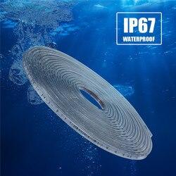 Tira de led de alta segurança, 220v, 5050smd, 11m, rgb, 60leds/m, flexível ip67 à prova d água luz externa