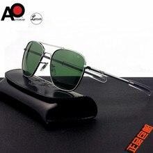 Aviation Sunglasses Men women 2020 American Army Military Optical AO rectangle driving glasses pilot