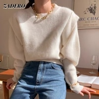 sweater for women 2021 autumn winter o neck long sleeve loose fake two piece pullover basic warm soft kniited sweater tops solid