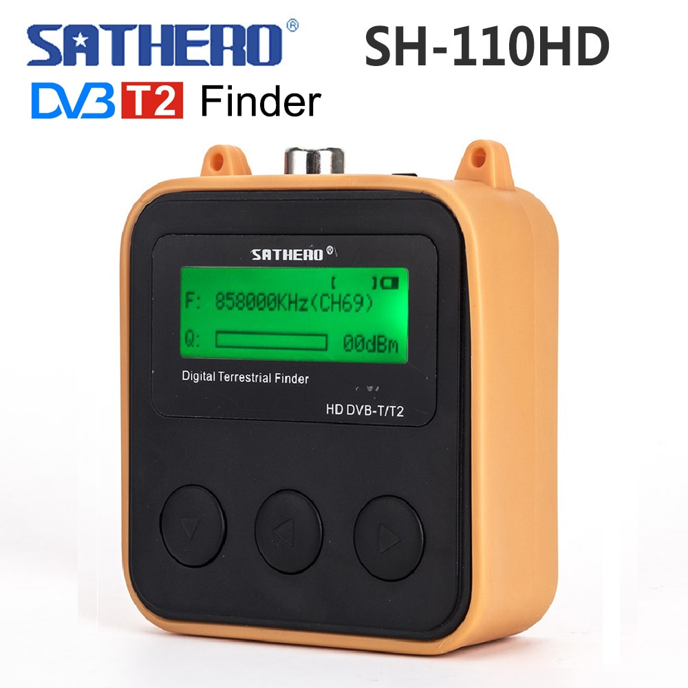 Sathero SH-110HD DVB-T DVB-T2 TV signal tester Pocket Terrestrial Signal Digital dvb T2 Finder meter LCD Screen dvbt2 sat finder