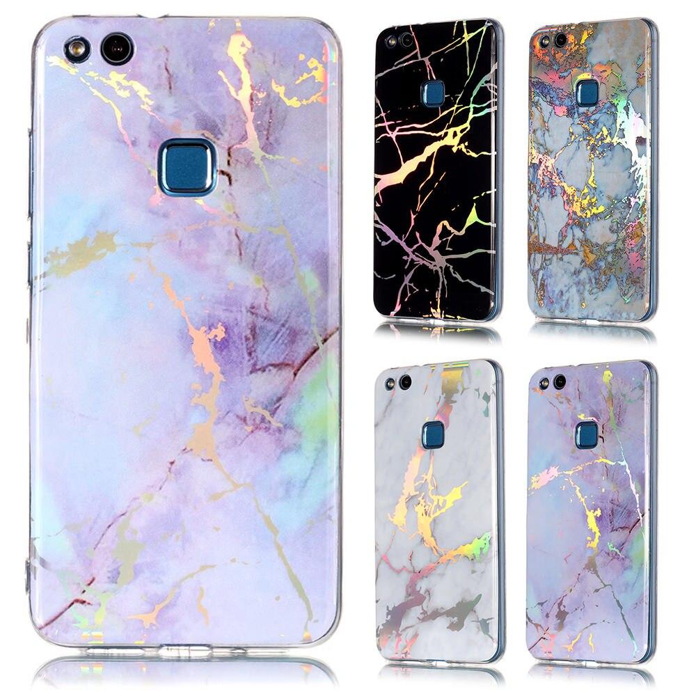 Funda de teléfono de silicona blanda lapenut con purpurina y mármol para HUAWEI Y5 Prime P9 P8 Lite 2017 P30 Nova 4e P20 Pro P10 Mate 20