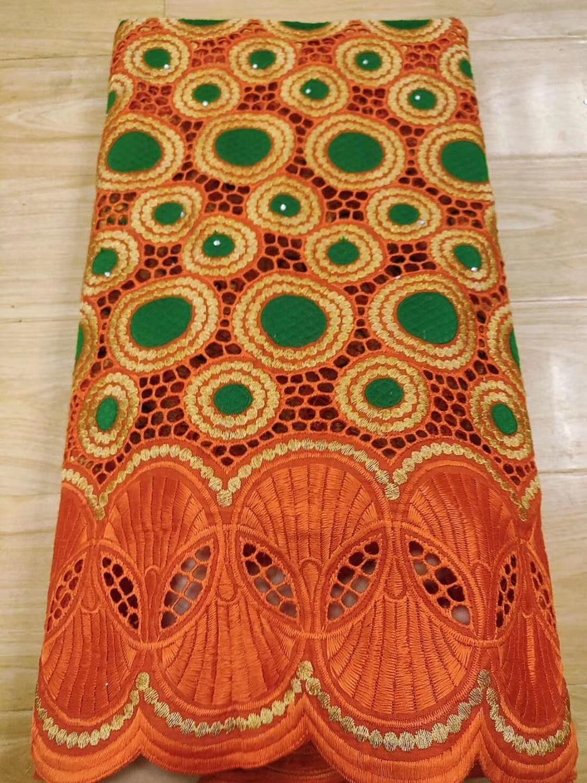 Tela de encaje de algodón africano de alta calidad Dubai tela de gasa Suiza encaje con piedras 2020 última tela de encaje africano 5 yardas