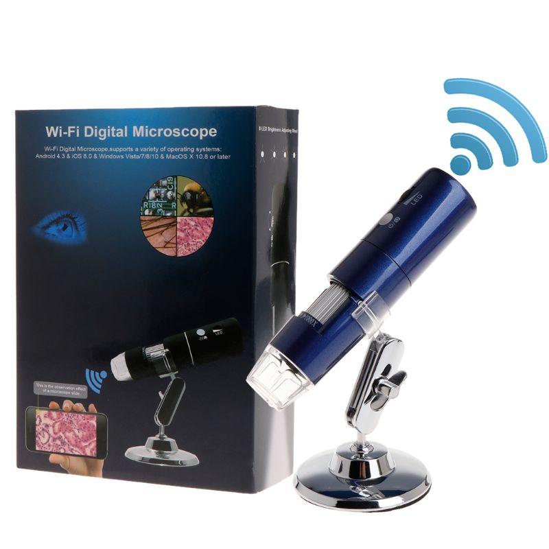 أحدث واي فاي الرقمية 1000x USB مجهر المكبر كاميرا 3 ألوان 8 led 1080P لنظام أندرويد ios آيفون باد